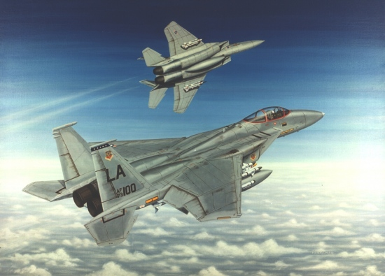 Wings Of Eagles From A 30 X 40 Acrylic On Canvas The Mcdonnell Douglas F 15 Eagle Entered Service In 1976 Four Years After It S First Flight